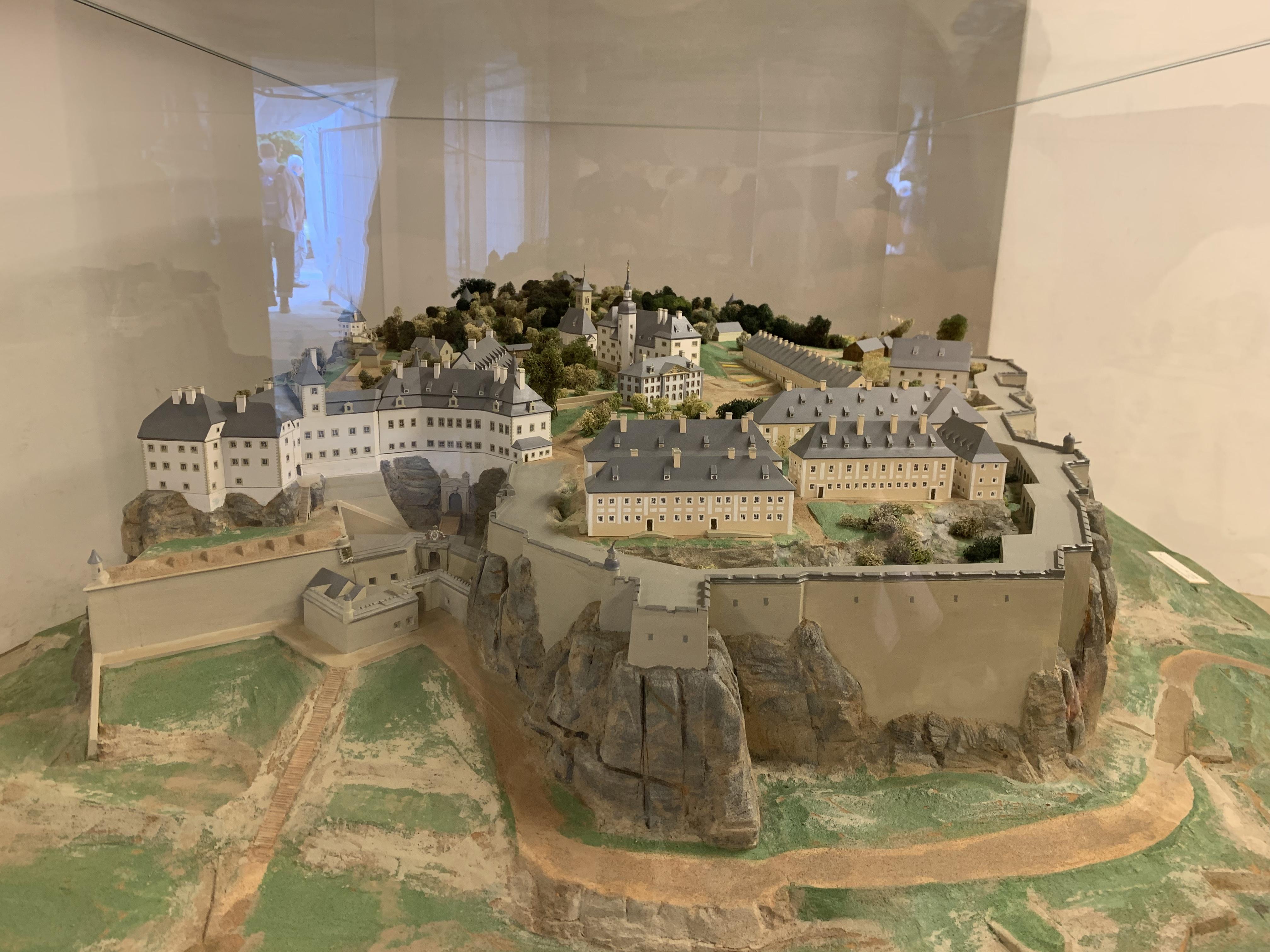 Ein Modell der Festung vom Jahr 1800