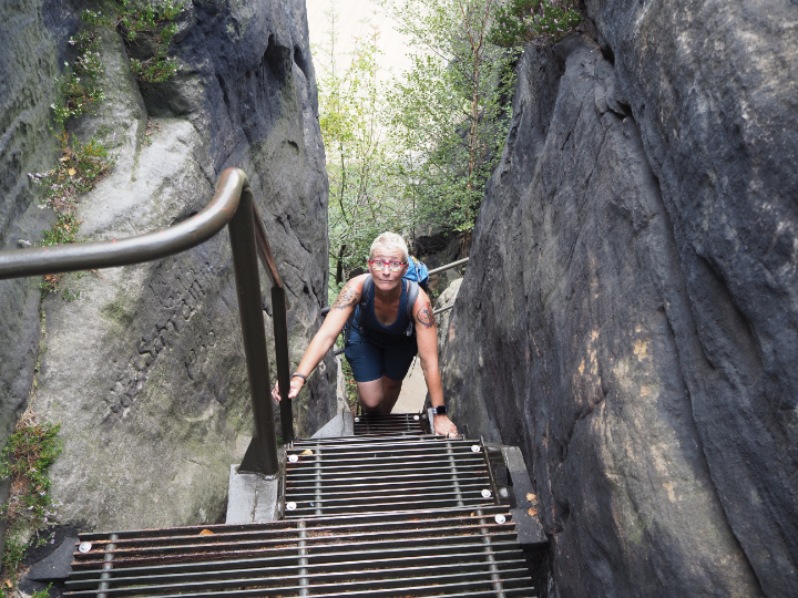 Leitertreppe zur Aussicht