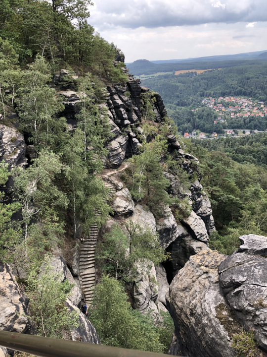 Ein kleiner Teil des südlichen Aufstiegs