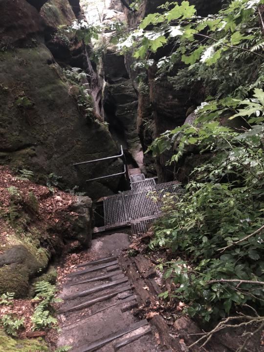 Über Treppen,