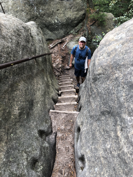 über Treppen